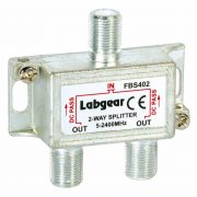 Broadband 2-way Compact Splitter, power pass all ports