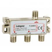 UHF 3-way splitter, power pass all ports