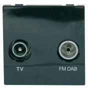 Screened Diplexed Outlet Module 50 x 50mm Black