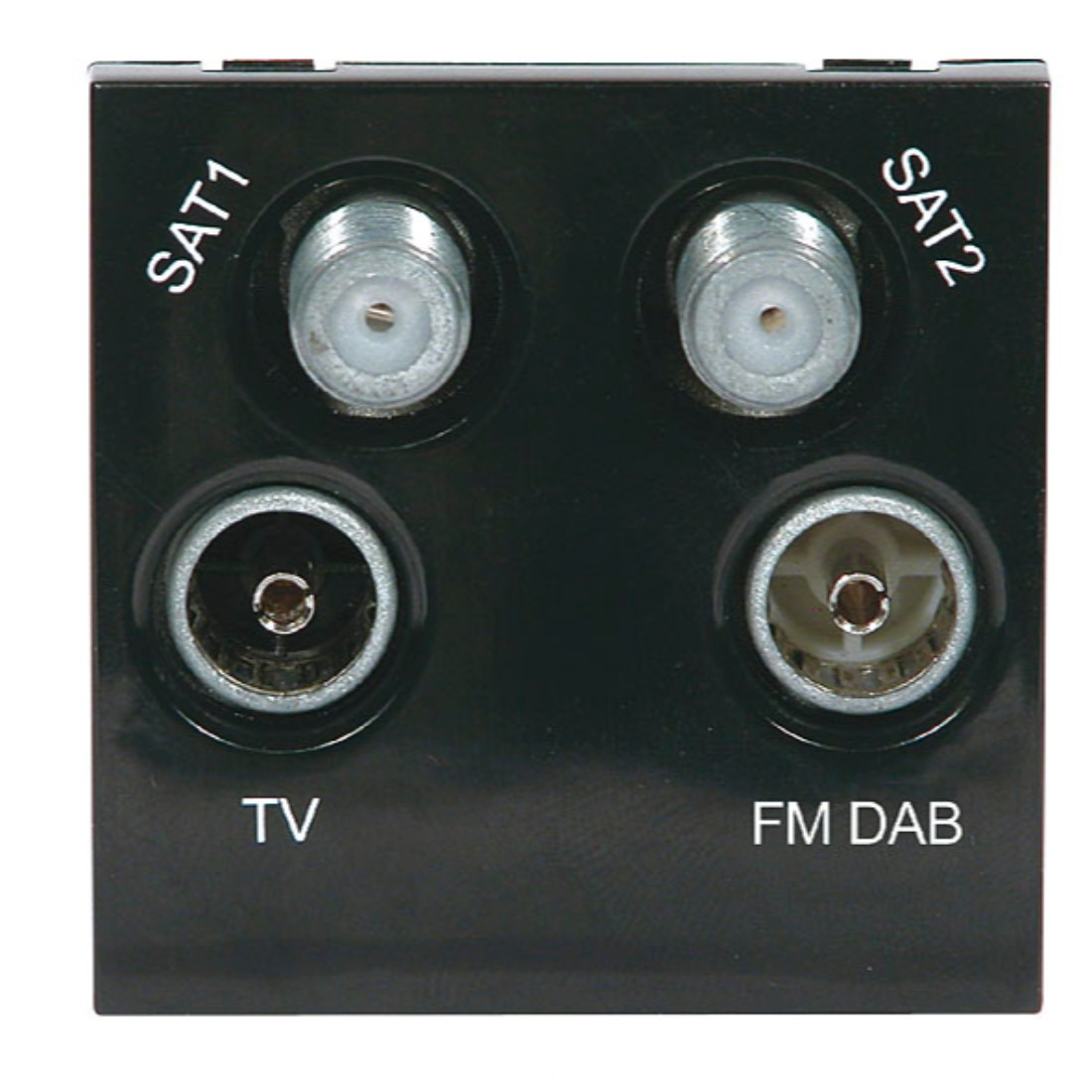 screened quadplexed outlet module 50 x 50mm black labgear rh labgear co uk 2007 Heritage Classic Wiring Diagram Badlands Wiring -Diagram