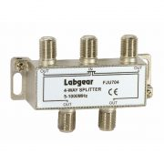 UHF 4-way splitter, power pass all ports