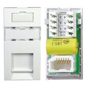 PABX Master Telephone Outlet Module 25 x 50mm White